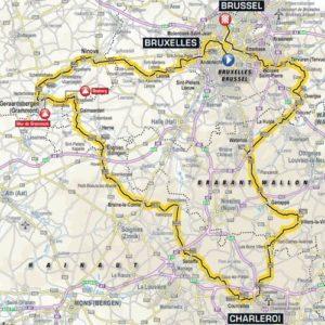 Tour de France 2019 Stage 1 Route Waterloo