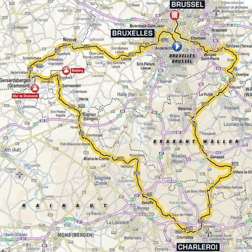 Tour de France 2019 Stage 1 Route Waterloo